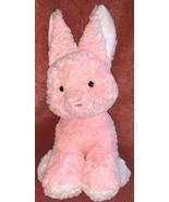 "Aurora Plush Bunny Pink White Feet Big Ears Stuffed Animal Soft Toy 14"" ... - $16.82"