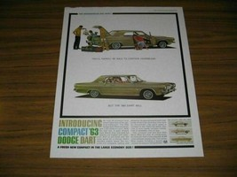 1962 Print Ad The 1963 Dodge Dart Compact Car Introducing - $13.87