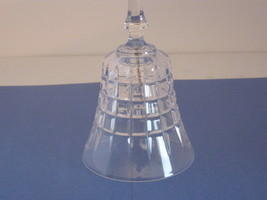 CRYSTAL BELL WITH SQUARE PATTERN. HANDLE IS NICELY STYLED. - $7.50