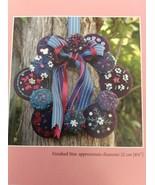Macaroon Christmas Wreath Felted Wool Embroidery Pattern Reiko Kato Stit... - $16.06