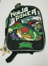 TURTLES NINJA POWER BACKPACK BOOK BAG RISE OF THE TEENAGE MUTANT NINJA N... - $22.50