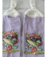 Crochet Top Kitchen Towels With Sweet Corn - $6.00