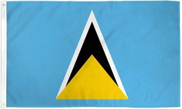 "ST. LUCIA 3X5' FLAG NEW 3'X5' 3 X 5 FEET 36X60"" BIG - $9.85"