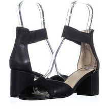 White Mountain Evie Criss Crossed Ankle Strap Sandals 708, Black, 8.5 US - $25.91