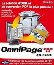 Scansoft Omnipage Pro 14 Office for Microsoft XP and Older - $24.75