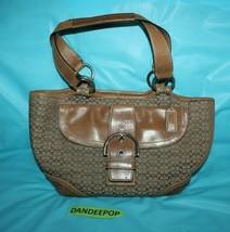 Coach Brown Vintage C Logo SoHo Mini Buckle Handbag DO4Q-7081 - $29.69