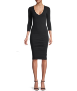 James Perse V-Neck Bodycon Dress French Navy Size 0 msrp: $225.00 - $138.59
