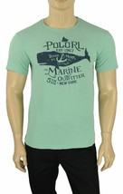 NEW MENS POLO RALPH LAUREN CREW NECK GREEN AQUA SPLATTERED GRAPHIC T SHI... - $21.77