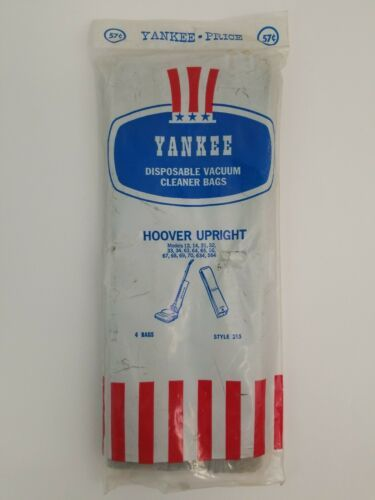 Hoover Upright Style 215 Yankee Vacuum Cleaner Bags 4 Pack