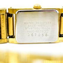 Seiko 1N00-6C09 Gold Tone Stainless Rectangle Diamond Accent Quartz Wristwatch image 6