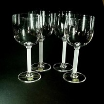 4 (Four) VINTAGE MIKASA HORIZON Frosted Stem Crystal Water Glasses DISCO... - $89.99