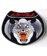 USAF US Air Force Large Airwolf Wolf Sew On Embroidered Jacket Patch 10 ... - $16.99