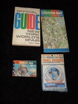 1964 New York World's Fair Lot Sticker Pcture Book Map Guide - $28.99