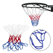 Thick 5mm Red White Blue Basketball Net Nylon Hoop Goal Rim Mesh Net  - $2.99
