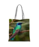 Pretty Blue Bird Shopper Tote Bag Classic Sublimation Printing Custom Totes - $22.95