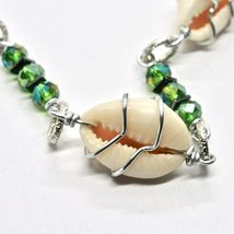 Necklace the Aluminium Long 48 Inch with Seashells Hematite and Crystals image 8