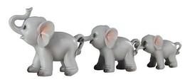 Trail of Grey Elephants Family Decorative Figurines, Set of 3 - $18.59