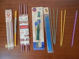 13 sets of Vintage 7 inch Bates Boye Clarks Lion knitting needles double... - $7.43