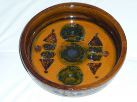 """Mid-Century Denmark Signed Art Pottery Bowl """"HANNE""""  10"""" - $49.00"""