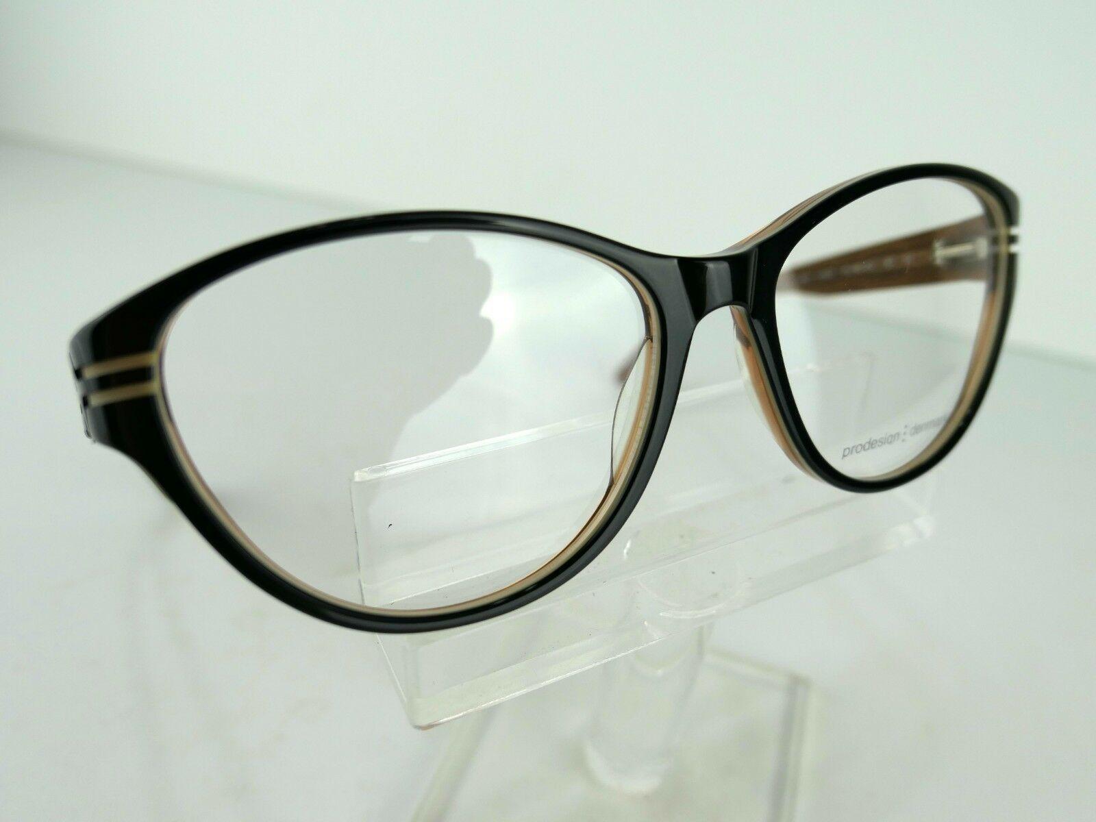 PRODESIGN DENMARK 1696 (6022) Black Shiny 55  x 16  Eyeglass Frames