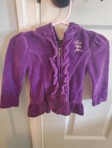 Calvin Klein Girls Purple Zip Up Hoodie 12 Months EUC - $13.99