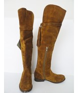 NIB Frye Molly Tassel Suede  Over the Knee Tall Boots Sz 5.5 M Wood Brow... - $277.15
