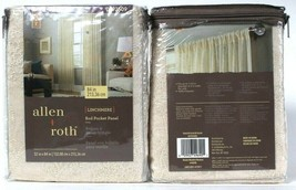 "2 Pack Allen & Roth 52"" X 84"" Linchmere 0792509 Ivory Polyester Rod Pocket Panel - $50.99"