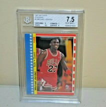 1987-88 Fleer Stickers Michael Jordan #2 CHICAGO BULLS BGS 7.5 Beckett - $74.24