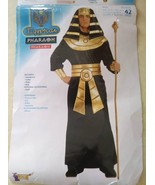 Adult Egyptian Pharaoh Halloween Costume Fits up to a Size 42 Chest - $24.75