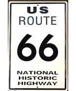 """U S ROUTE 66 National Historic Highway Aluminum Wall / Man-Cave Sign 12""""... - $19.15"""