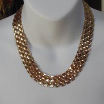 Vintage Soft Link Chain Choker Necklace  - $54.45