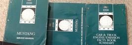 1998 Ford Mustang Gt Cobra Service Shop Manual Set Oem Factory W Evtm & Facts Bk - $168.29