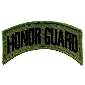 Primary image for ARMY HONOR GUARD SUBDUED OD SHOULDER ROCKER TAB EMBROIDERED MILITARY PATCH