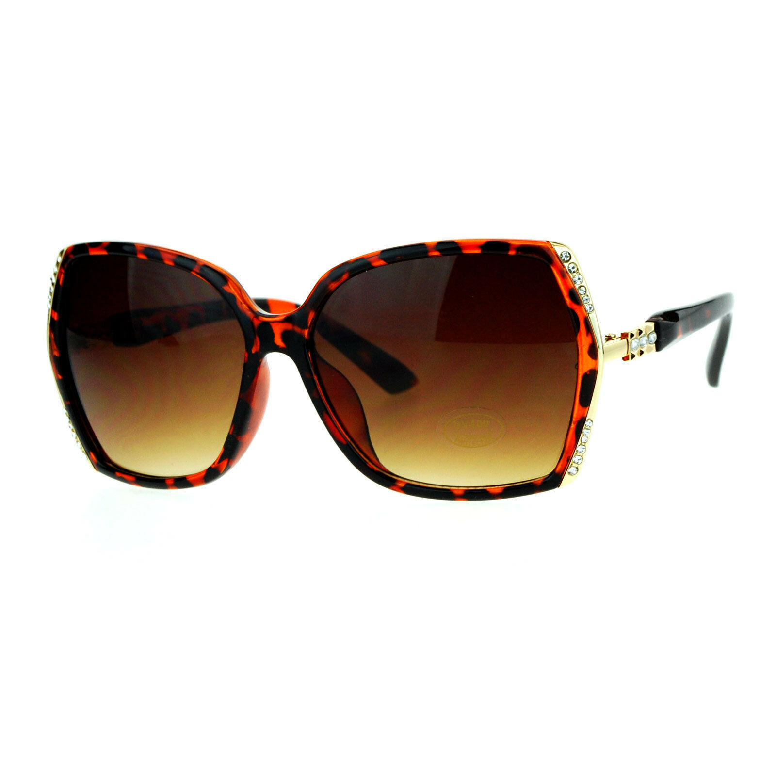 Womens Fashion Sunglasses Square Frame Rhinestones Design UV 400