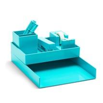 Poppin Desk Collection All Set 12 Piece Aqua Work Happy Desk Organizer - €23,62 EUR