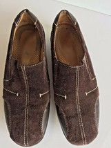 Natural Soul by Naturalizer Francis Shoes Womens 6M Brown Suede Slip On Mocs - $21.15