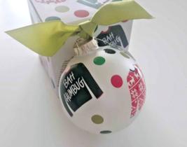 """Coton Colors TACKY CHRISTMAS UGLY SWEATER Bah Humbug 4"""" Glass Ball Ornam... - $13.85"""