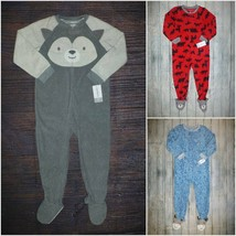 NWT Carters Husky Dog Forest Animals Toddler Boys Footed Fleece Sleeper Pajamas - $9.99