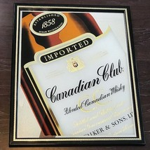 CANADIAN CLUB WHISKEY IMPORTED MIRROR BEER LIQUOR WINE SIGN VINTAGE HIRA... - $247.50