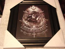 AMOR SAGRADO MAN AND WOMAN 11X13 MDF FRAMED PICTURE ( BLACK COLOR FRAME ) - $29.11