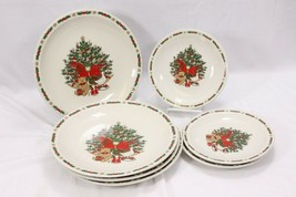 Strawberry St Christmas Treasure Dinner and Salad Plates Lot of 7 - $50.47