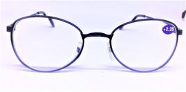 Black Frame Wide Bridge Reading Glasses Oval Clear Lens Reader +1.25 -3.25 - $6.95