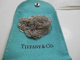 """Tiffany & Co. Peretti Mesh Bib Scarf Necklace 28"""" Sterling Silver EUC #1001 - $458.32"""