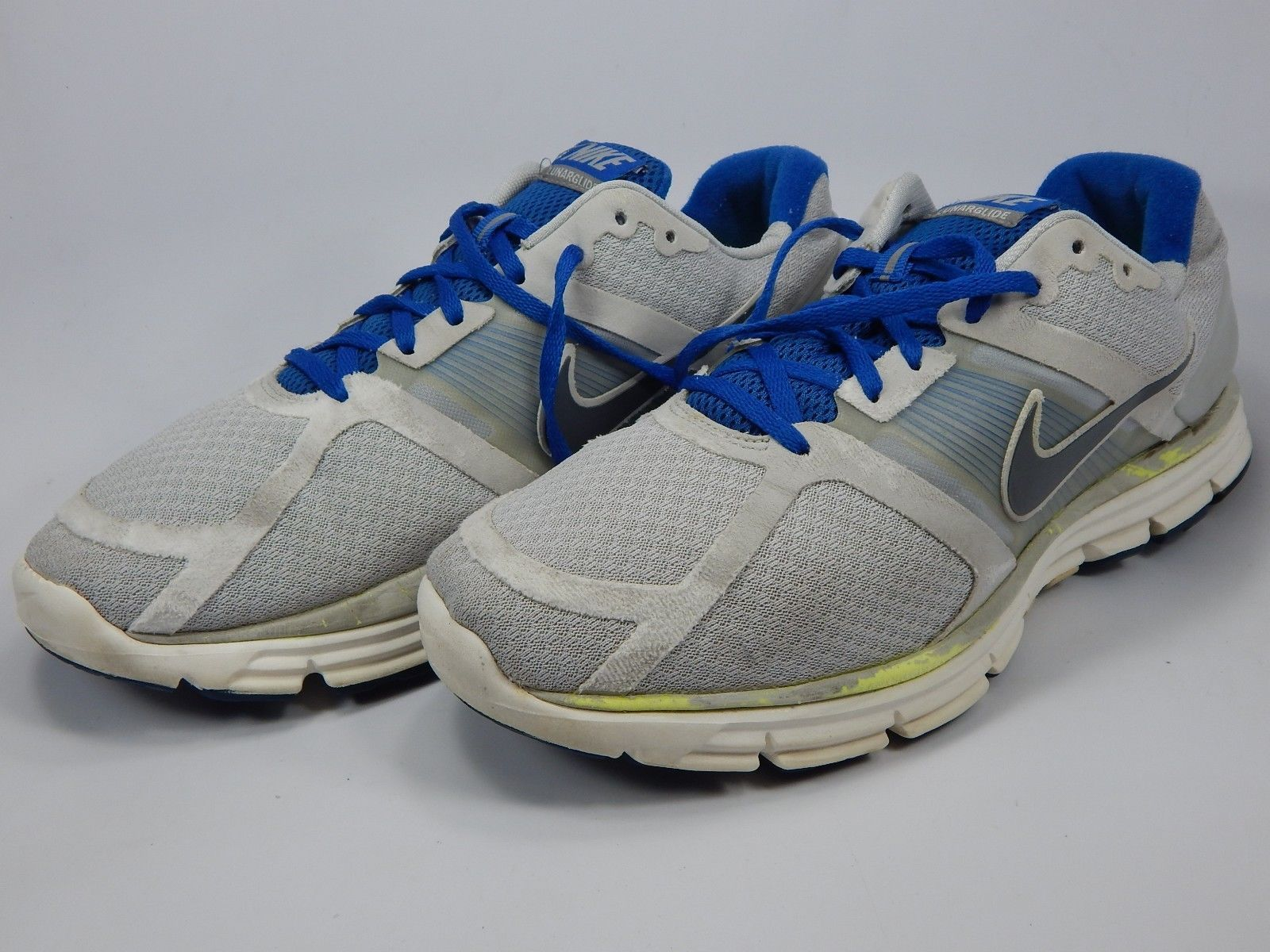Nike Lunarglide+ Size 12 M (D) EU 46 Men's Running Shoes Gray Blue 366644-018