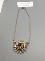 Vintage Goldtone Red Rhinestone Choker See Description - $6.96