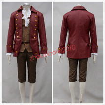 2017 Movie Beauty and the Beast Gaston Cosplay Costume Halloween Men's Fanc - $45.99