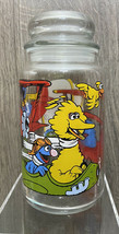 "Vtg Sesame Street Glass Jar Candy 8 1/2""  Muppets Big Bird Cookie Monste... - $19.99"