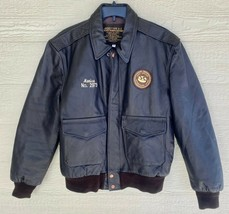 1987 Us Army Air Force Flyers Men's Leather Type A-2 Flight Jacket - Size Small - $183.15