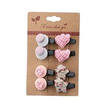 Newly Design Little Girls Hair Pins Hair Clips Accessories 8 piece, NO.3