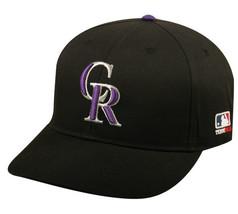 Colorado Rockies MLB OC Sports Hat Cap Solid Black / CR Logo Team Adjust... - $14.99